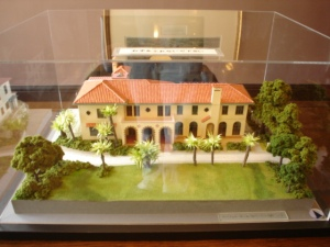 A model of Berrick Hall in the husband's bedroom/study.