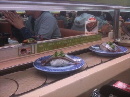 Sushi on the conveyor belt